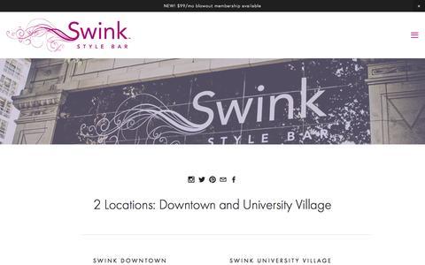 Screenshot of Locations Page swinkstylebar.com - Locations Ń Swink Style Bar - captured Jan. 12, 2016