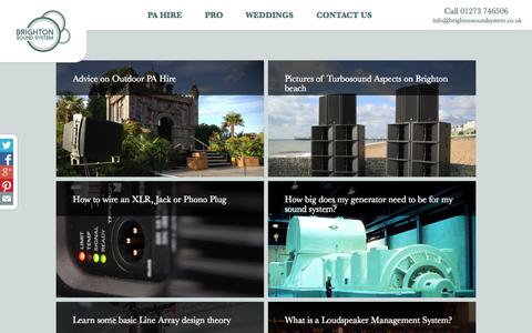 Screenshot of Blog brightonsoundsystem.co.uk - PA Hire Blog   Brighton Sound System   - captured Nov. 3, 2014
