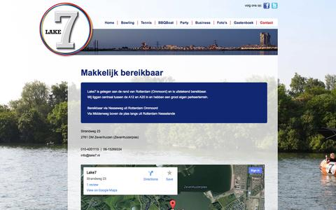 Screenshot of Contact Page lake7.nl - Lake7 - Contact - captured Sept. 27, 2014