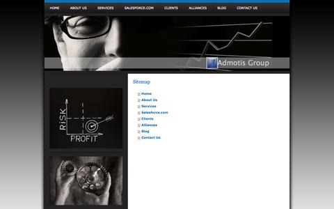 Screenshot of Site Map Page admotis.com - Admotis Group - Targeted marketing services in Maryland - captured Oct. 4, 2014