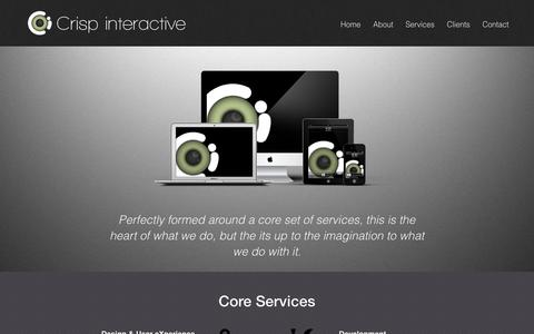 Screenshot of Services Page crispinteractive.co.uk - Services - captured May 23, 2017