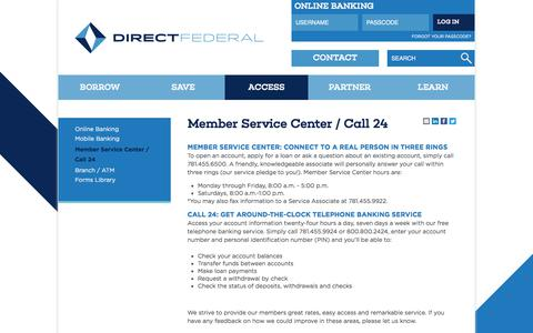 Screenshot of Hours Page direct.com - 24/7 telephone banking Boston, MA | Personal service by phone - captured July 8, 2018