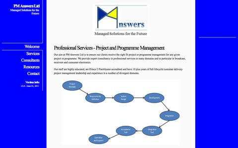 Screenshot of Home Page pm-answers.com - PM Answers Ltd - captured Oct. 1, 2014