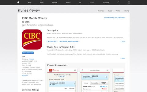 CIBC Mobile Wealth on the App Store