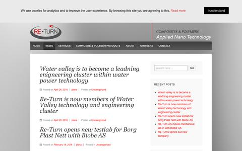 Screenshot of Press Page re-turn.no - News - Re-Turn AS - captured Nov. 15, 2018
