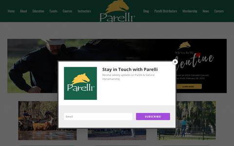Screenshot of Home Page parelli.com - The Official Home of Parelli Natural Horsemanship - Horse Training - captured Feb. 15, 2019