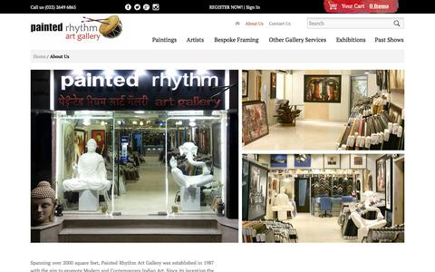 Screenshot of About Page paintedrhythm.com - About Us - captured Oct. 1, 2014