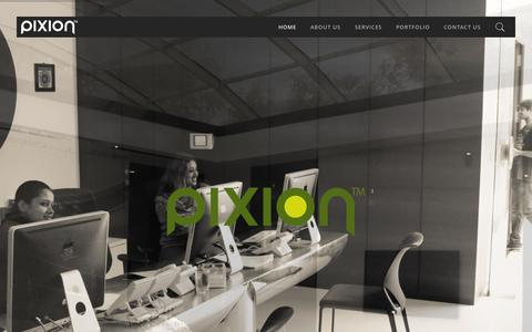 Screenshot of Home Page pixion.tv - Pixion » Post Production Redefined. - captured Sept. 28, 2015