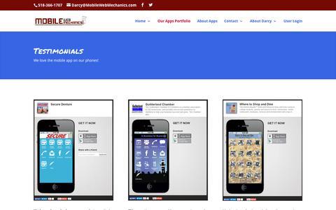 Screenshot of Testimonials Page mobilewebmechanics.com - Mobile Web Site Apps | Custom Web Apps Albany NY | Mobile Web Mechanics | Mobile Web Mechanics - captured Nov. 8, 2017