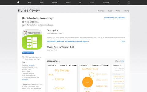 HotSchedules Inventory on the App Store