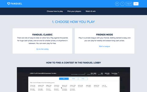 How It Works  | FanDuel