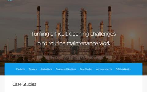 Screenshot of Case Studies Page refinerysolutions.com - Case Studies - captured Dec. 19, 2016