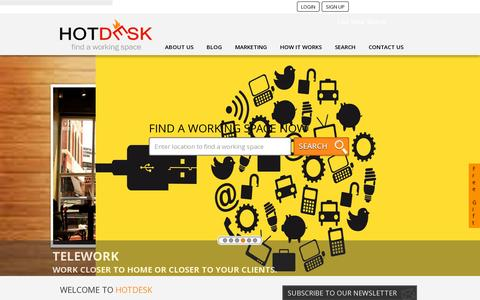 Screenshot of Home Page hotdesk.com.au - Shared Offices | Coworking Spaces | Serviced Offices | Hotdesk.com.au - captured July 11, 2014