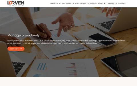 Screenshot of Home Page lorventech.com - Lorven Technologies - captured April 17, 2018