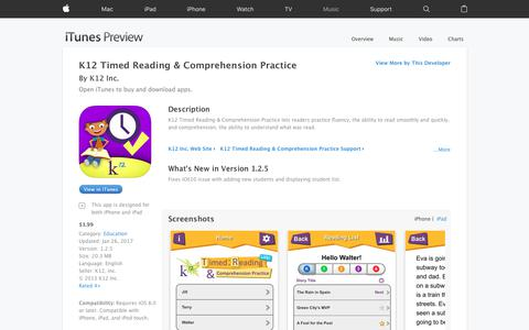 K12 Timed Reading & Comprehension Practice on the App Store