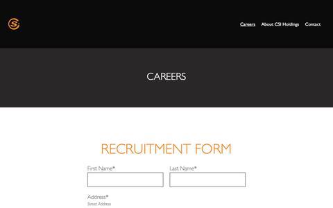Screenshot of Jobs Page getcsi.com - Careers - Catastrophe Solutions International - captured Sept. 24, 2018