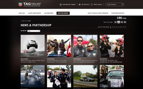 Screenshot of Press Page tagheuer.com - News and Partnership | TAG Heuer - captured Oct. 27, 2014