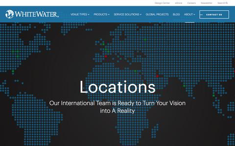 Screenshot of Locations Page whitewaterwest.com - Locations - WhiteWater West - captured Sept. 20, 2018