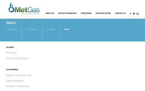 Screenshot of Maps & Directions Page metgasindustries.com - MetGas Industries Ltd.: Maps - captured Oct. 27, 2014