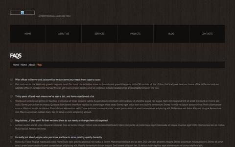 Screenshot of FAQ Page jameskaro.com - FAQs  |  james c karo associates - captured Nov. 27, 2016