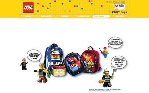 Screenshot of Home Page legobags.com - ::..LEGO..::, LEGObags.com for all of your kids bags - captured Sept. 24, 2014