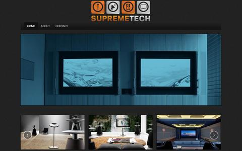 Screenshot of Home Page supremetech.co.za - Supremetech - captured Oct. 7, 2014
