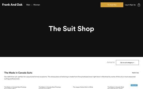 The Suit Shop | Frank And Oak