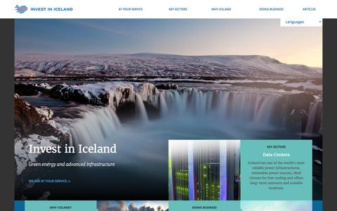 Screenshot of Home Page invest.is - Invest in Iceland - captured March 2, 2016