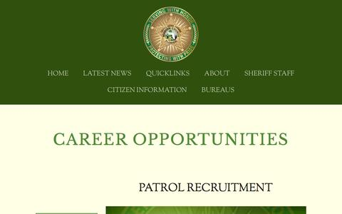 Screenshot of Jobs Page marionso.com - CAREER OPPORTUNITIES — Marion County Sheriff's Office - captured Aug. 30, 2016