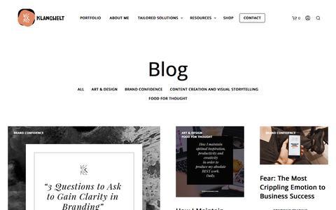 Screenshot of Blog klangwelt.com - Blog   KLANGWELT ® - captured Sept. 20, 2018
