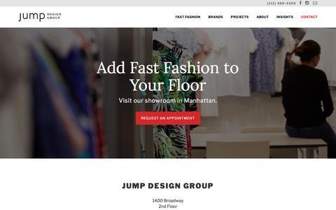 Screenshot of Contact Page jumpdesigngroup.com - Contact | Jump Design Group - captured Sept. 20, 2018