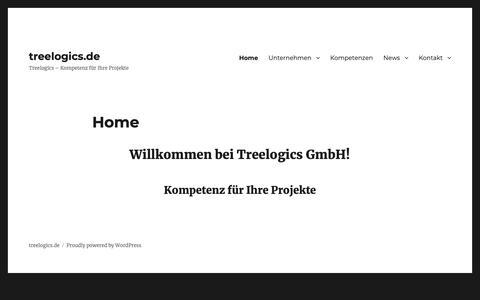 Screenshot of Home Page treelogics.de - treelogics.de – Treelogics – Kompetenz für Ihre Projekte - captured Oct. 20, 2018