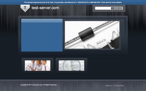 Screenshot of Home Page test-server.com - test-server.com - captured June 30, 2017