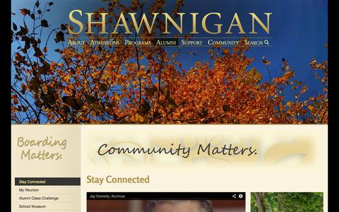 Screenshot of Support Page shawnigan.ca - Shawnigan Lake School | Stay Connected - captured Oct. 4, 2014