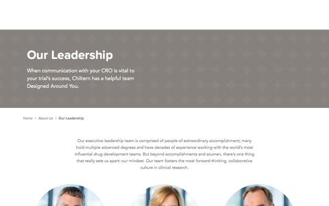 Screenshot of Team Page chiltern.com - Leadership Team - captured June 11, 2017