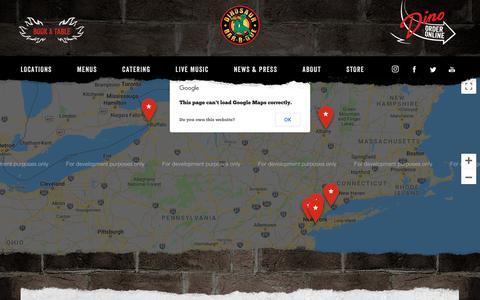 Screenshot of Locations Page dinosaurbarbque.com - Locations | Dinosaur Bar-B-Que - captured Sept. 23, 2018