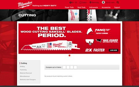 Cutting | Milwaukee Tool