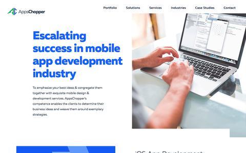 Screenshot of Services Page appschopper.com - Mobile App Development Company: Mobile Apps Design & Development Services - captured April 21, 2018