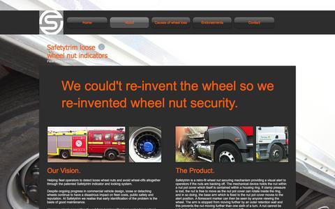 Screenshot of About Page safetytrim.com - safetytrim-nsp | About - captured Nov. 18, 2016