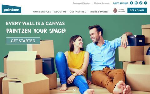 Screenshot of Home Page paintzen.com - Residential Painters, Commercial Painters - Paintzen - captured June 2, 2017