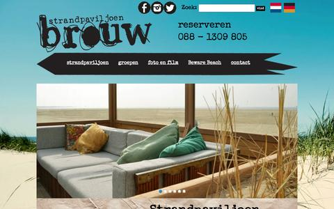 Screenshot of Home Page brouw.nl - Strandpaviljoen Brouw - Strandpaviljoen Brouw - captured Jan. 21, 2015
