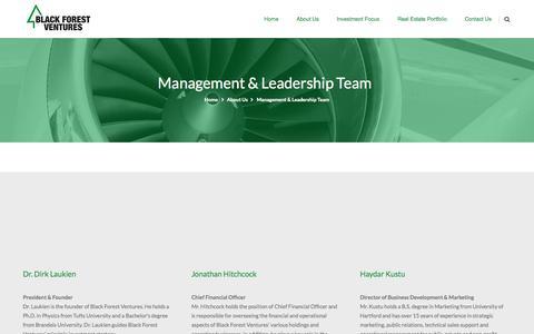 Screenshot of Team Page blackforestventures.com - Management & Leadership Team | Black Forest Ventures - captured Oct. 29, 2014
