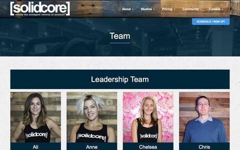 Screenshot of Team Page solidcore.co - Coaches - The [solidcore] Coaching and Training Staff - captured June 11, 2017