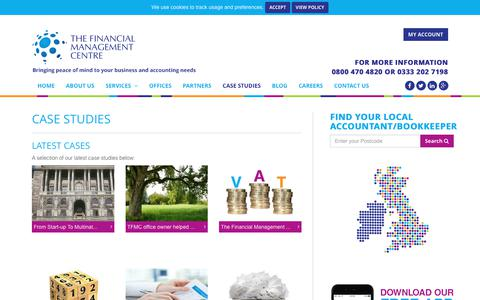 Screenshot of Case Studies Page thelocalbookkeeper.co.uk - Case Studies by The Financial Management Centre. Read our success stories! - captured Nov. 10, 2017