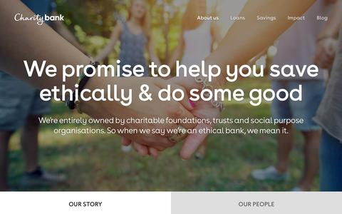 Screenshot of About Page charitybank.org - Ethical bank Charity Bank promises to help you save ethically | Charity Bank - captured Dec. 5, 2015