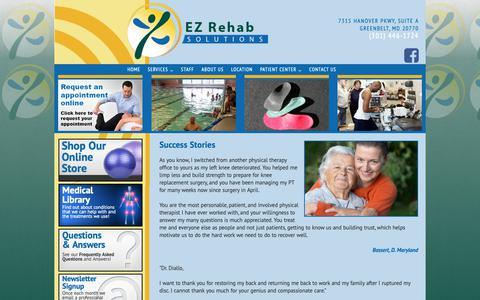Screenshot of Testimonials Page ezrehabsolutions.com - Testimonials | EZ Rehab Solutions - captured Nov. 4, 2018