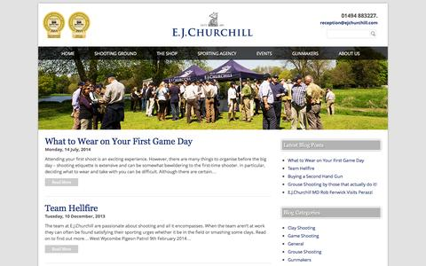 Screenshot of Blog ejchurchill.com - %date% | EJ Churchill - captured Sept. 26, 2014