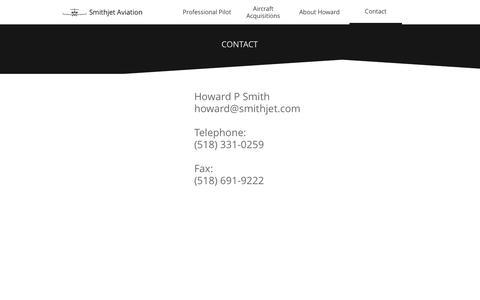 Screenshot of Contact Page smithjet.com - Contact - captured Dec. 9, 2016