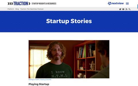 Screenshot of Blog nextviewventures.com - Startup Stories Archives - Page 6 of 7 - NextView Ventures - captured April 17, 2017