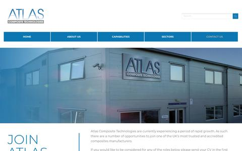 Screenshot of Jobs Page atlascomposites.com - Careers - Atlas Composite Technologies - captured Oct. 4, 2018